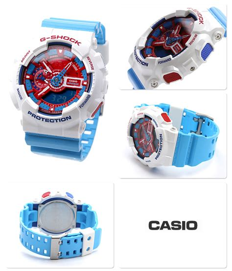 Casio Original G Shock Ga 110ac 7 casio g shock ga110ac 7 ga 110ac 7 white blue limited