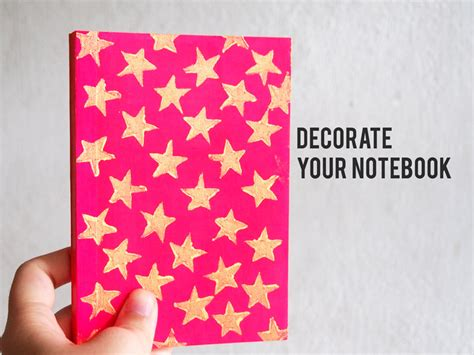 decorate notebook cover with diy st tueymeaw s