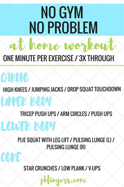 no workout at home workout bodyweight workout