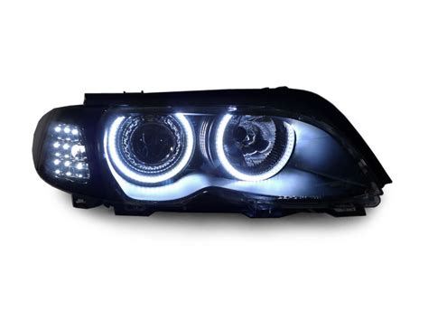 L Projector Ccfl Corner L Bmw E46 1998 2001 Non Facelift 02 05 bmw e46 4d 5d led xenon hid headlight clear