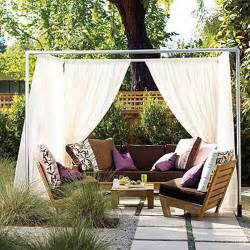Outdoor Canopy Curtains 20 Diy Outdoor Curtains Sunshades And Canopy Designs For Summer Decorating