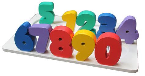 Atham Toys Chunky Puzzle Angka puzzle chunky angka 0 9 mainan kayu