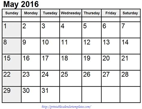 may 2017 printable calendar blank templates printable