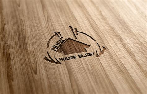 house music logo design music house blast logo design logo templates on creative market