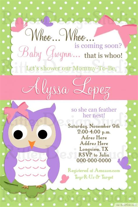 Baby Shower Owl Invitations by 6 Smart Owl Baby Shower Invitations Printables Ideas For
