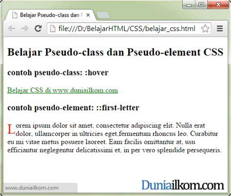 membuat link berubah warna css tutorial belajar css pengertian pseudo class dan pseudo