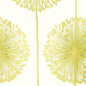 Muriva dandelion floral wallpaper cream lime green j04204 muriva