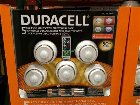 duracell 5 led puck lights costco 689314 duracell 5pk led puck lights box costcochaser