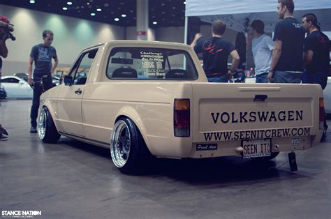 volkswagen rabbit pickup stanced a caddy from heaven stancenation form gt function