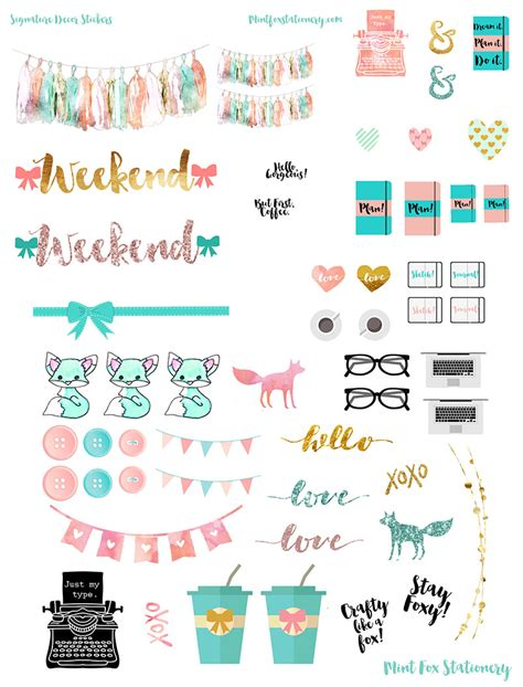to do stickers happy planner signature sticker set