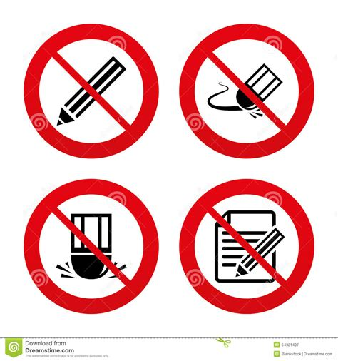 draw free no pencil icon edit document file eraser sign stock vector