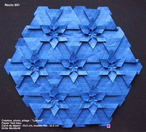 origami tessellation tutorial page has multiple tessellation tutorials based on both the