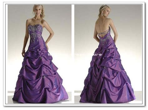 Elegancy Gold Dress 09 wedding dress purple embroidery satin gown w