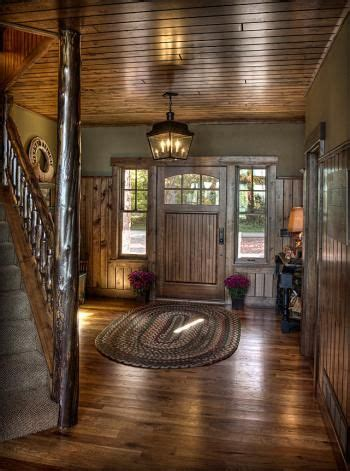 rustic foyer more land s end development pole barn houses pinterest foyers cabin and house