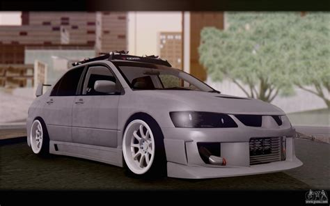 mitsubishi lancer stance mitsubishi lancer evolution stance for gta san andreas