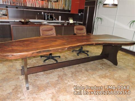 Meja Rapat Kayu Jati jual meja rapat kantor kayu trembesi jepara mebel jepara jual mebel antik furniture jati