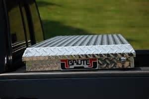 Truck Bed Covers With Low Profile Tool Box Brute Commercial Grade Low Profile Crossover Truck Tool Box