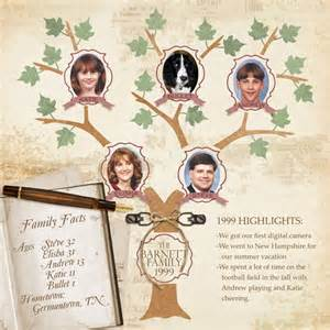 Family Tree Scrapbook Templates by Digital Scrapbooking Kit Scrapsimple Embellishment
