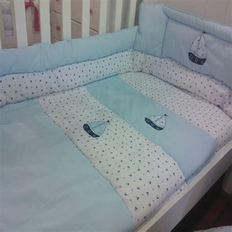 accesorios de cuna para bebe acolchado con chichonera benchu celeste para cuna