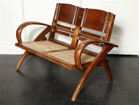colonial settee set of four folding hardwood colonial style armchairs