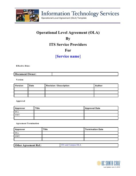 ola agreement template ola template