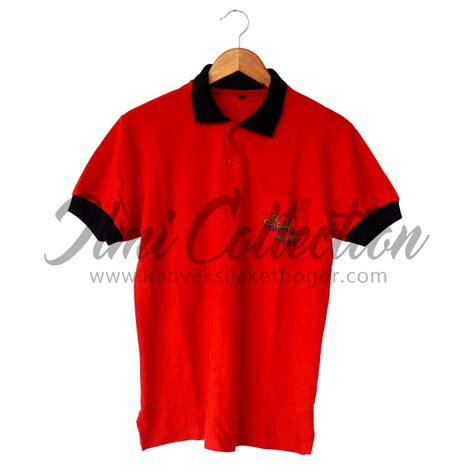 Kaos Polo Lacoste Bordir kaos polo lacoste katun merah ilmi collection
