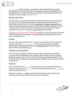 business plan template for flipping houses house
