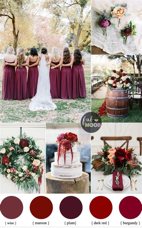 burgundy wedding theme autumn wedding shades of burgundy maroon plum wine s
