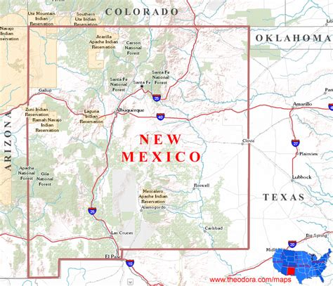 mexico map and mexico geographical map new mexico maps