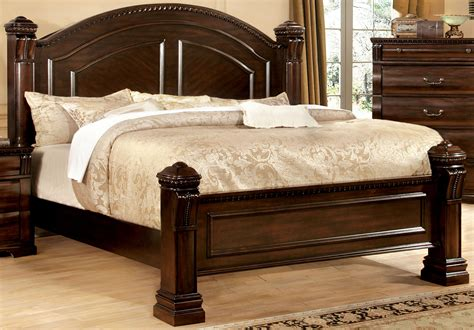 low poster king size solid wood bed frame bedroom