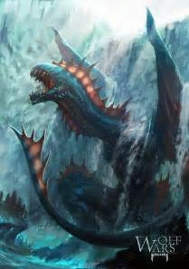 water dragon by rawwad on deviantart