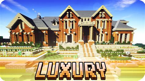 minecraft brick house design minecraft large luxury mansion brick house design with download youtube