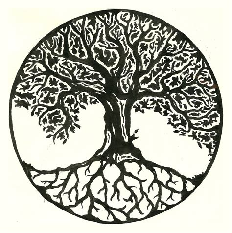 design for life tattoo yggdrasil on tree designs celtic tree