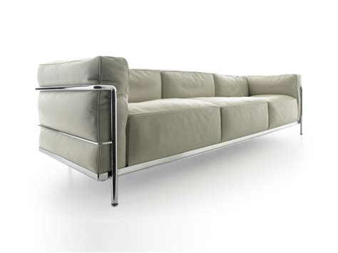 two and three seater sofas buy the cassina lc3 three seater sofa at nest co uk