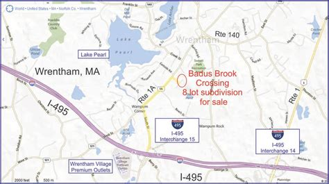 wrentham outlets map badus brook crossing in wrentham ma 02038