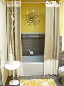yellow and grey bathroom decorating ideas accessorize everything for this powder room hgtv fan
