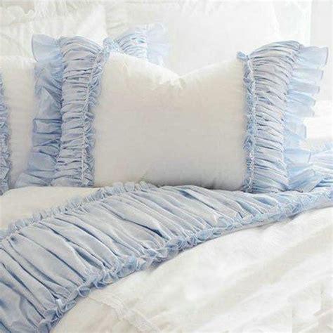 blue ruffle bedding ruffle bedding