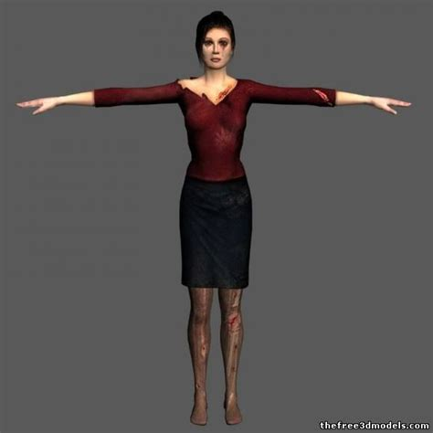 3d L Model Free female survivor 3d model 3ds dds sldprt