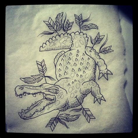 tribal crocodile tattoo designs crocodile sketch best design ideas