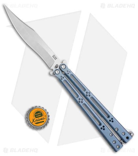 hom design hom design basilisk r titanium balisong butterfly knife