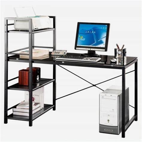 Tempered Glass Laptop Tempered Glass Laptop Desk In Black And Smokey Grey Rta 7337 Gls