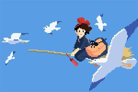 Anime 8 Bit by 1080p Studio Ghibli Anime 8bit Pixel 7 3
