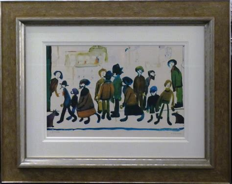Buy Standing L Standing About By L S Lowry Signed Print We Buy Le