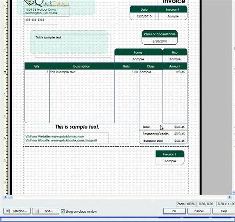 customizing a quickbooks invoice template to include a