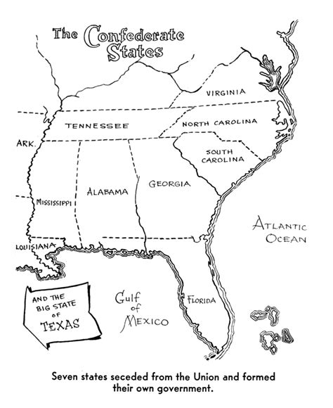 america civil war coloring story page civil war lapbook