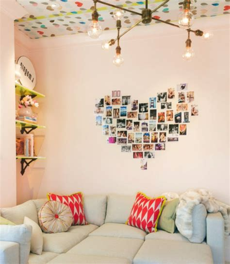 wand mit fotos gestalten coole wanddeko eine fotowand mit familienfotos gestalten
