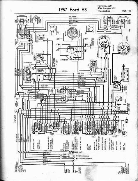 free auto wiring diagram 1957 ford v8 fairlane custom300