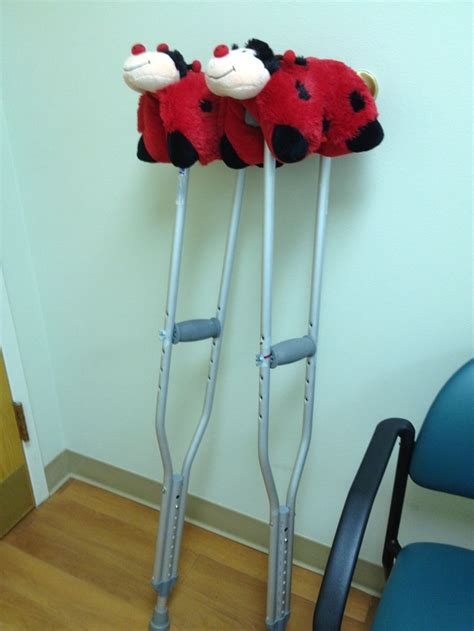 How To Make Crutches Comfortable by Baby Pillow Pets Make Great Cushions For Crutches
