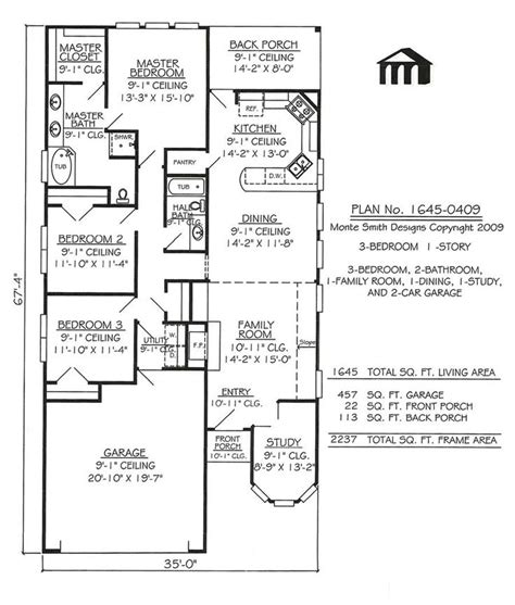 narrow one story house plans narrow lot apartments 3 bedroom story 3 bedroom 2 bathroom 1 dining room 1