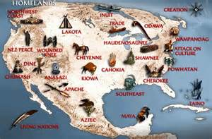 Map Of Native American Tribes In The United States by Pagan Heart North American Indians